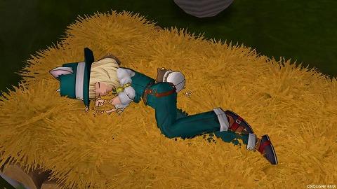 竜族の里のベッド