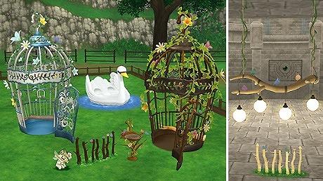 小鳥の家具・庭具セット