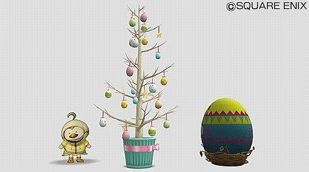 モンスターのカラフル卵、イースターエッグツリー