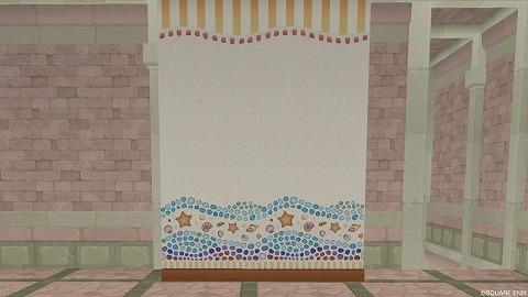貝殻モチーフの壁