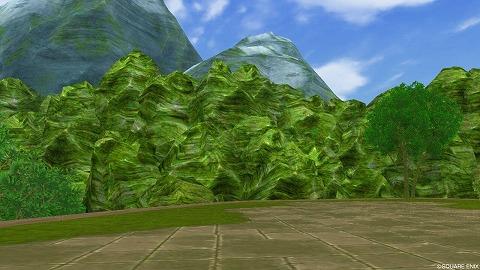 マイタウンコケむした岩山