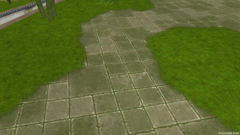 石畳みの地面
