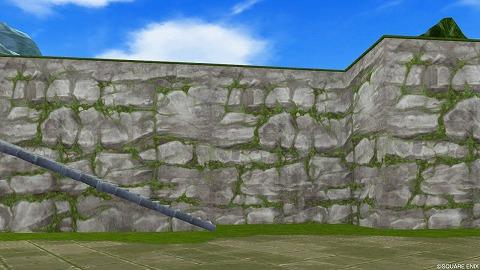 コケむした壁