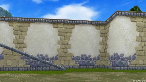 青い石造りの壁