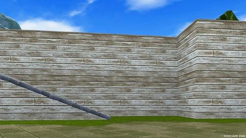 海辺の町壁