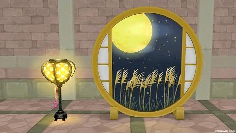 お月見の障子お月見のぼんぼり