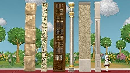 妖精の柱と壁セット