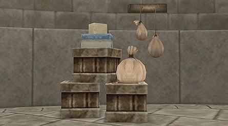 木箱セット壁かけ布袋