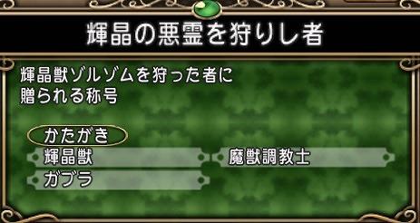 ドラクエ10輝晶獣ゾルゾム討伐称号