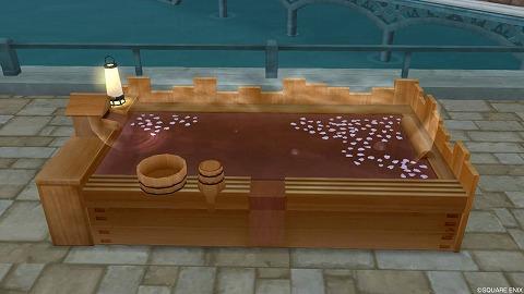 ドラクエ10温泉効果付きヒノキ風呂