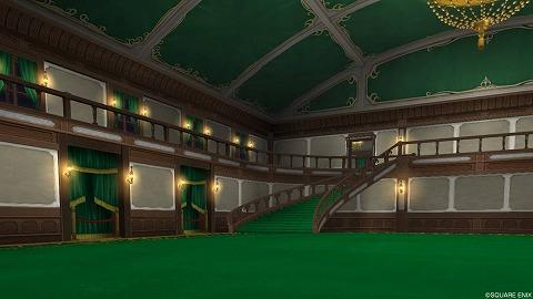 ドラクエ10夜宴館内装緑