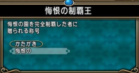 ドラクエ10悔恨の制覇王