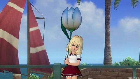 ドラクエ10水色チューリップ傘