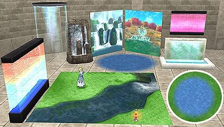 ドラクエ10水が流れる家具庭具