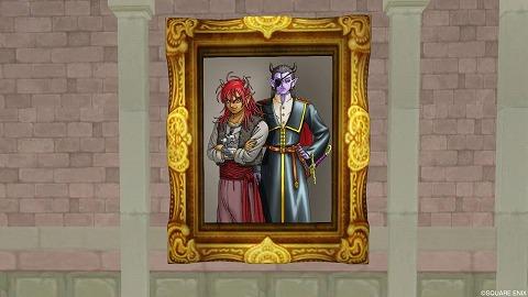 ドラクエ10魔王と副官の肖像画