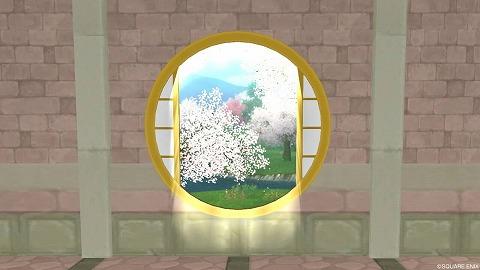 ドラクエ10壁かけ四季の丸窓